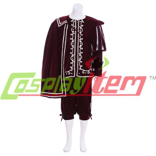 Renaissance  victorian Tudor vintage men/'s cosplay Costume Dress outfit CAPE