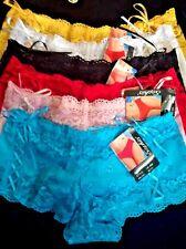 Lot Of 6 Pcs Sexy Lace Boyshorts Panties Boxers Women's Underwear b888 Size M 6