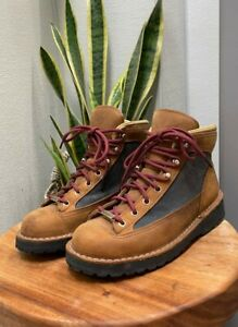 Mint-Danner-Ridge-Boot-TAN-GREY-Women-s-Size-6-Genuine-Leather-Hiking-Shoe-USA