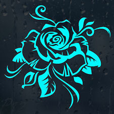 Beautiful Flower Rose For Girls Womans Car Or Laptop Or Wall Decal Vinyl Sticker