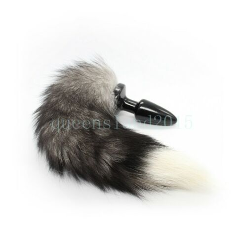New Fluffy Fur fox dog Tail Cosplay Animal PET dog Tails Silicone plug Roleplay