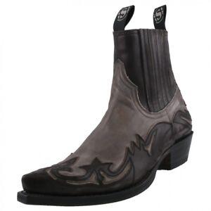 Boots Western Uomo Stivaletti Grigio Stivali Sendra Nuovo aOHwvq4O