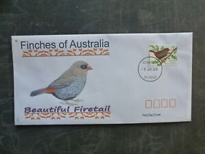2018-AUSTRALIA-FINCHES-FIRETAIL-FINCH-ILLUSTRETED-FDC-FIRST-DAY-COVER