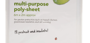 Multi Purpose Clear transparent Poly Sheet 6mx2m Greenhouse Gardening