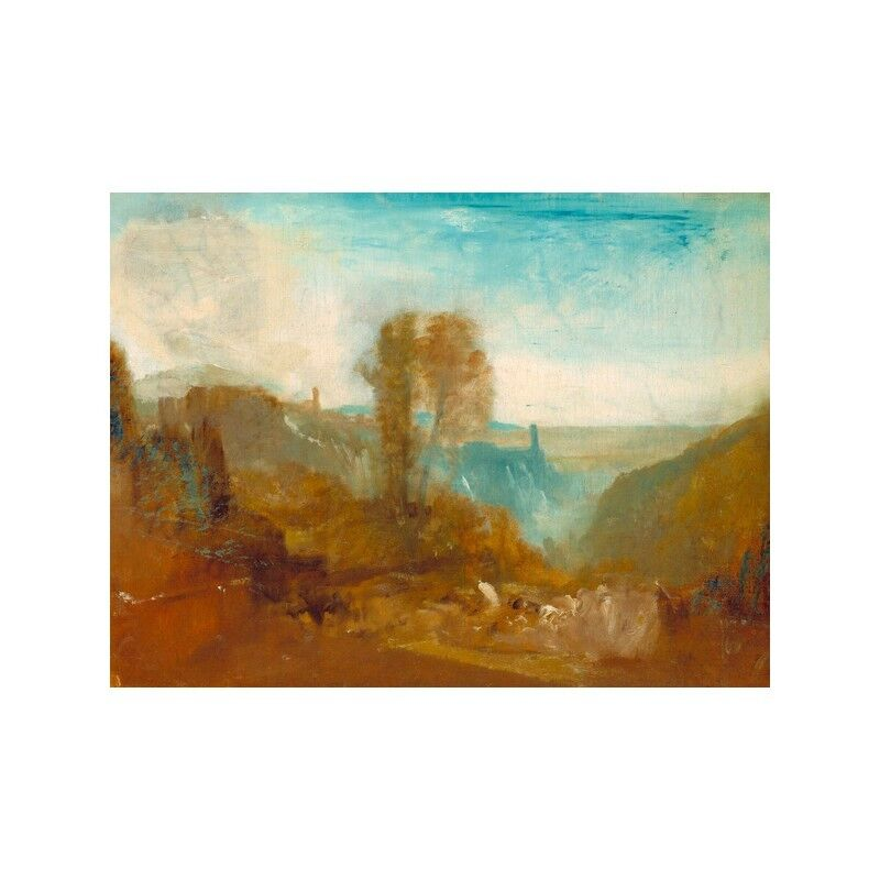 Quadro su Pannello Pannello Pannello in Legno MDF William Turner Tivoli, the Cascatelle | Moderne Et élégant à La Mode