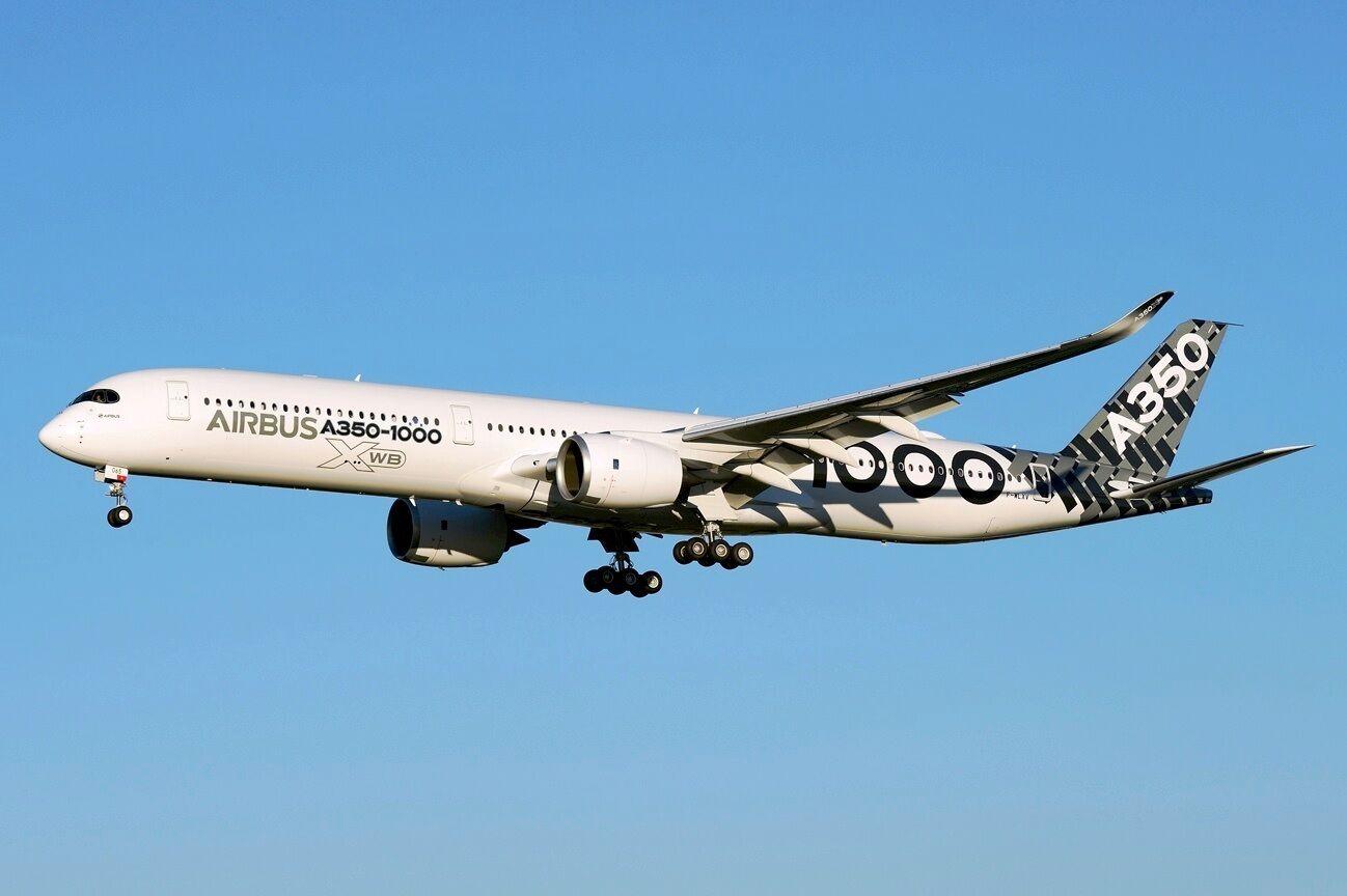Jc Ailes Lh2087a 1 200 Airbus A350-1000 F-Wlxv Rabats Down Carbone Livrée avec