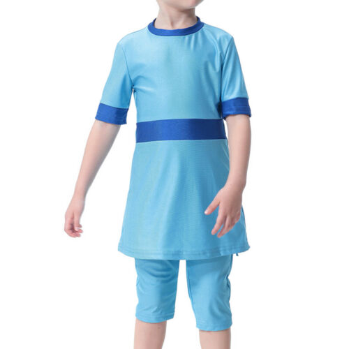Kids Muslim Swimming Costume Swimwear Burkini Swimsuit Swimdress Age 4 5 6 7 8 9