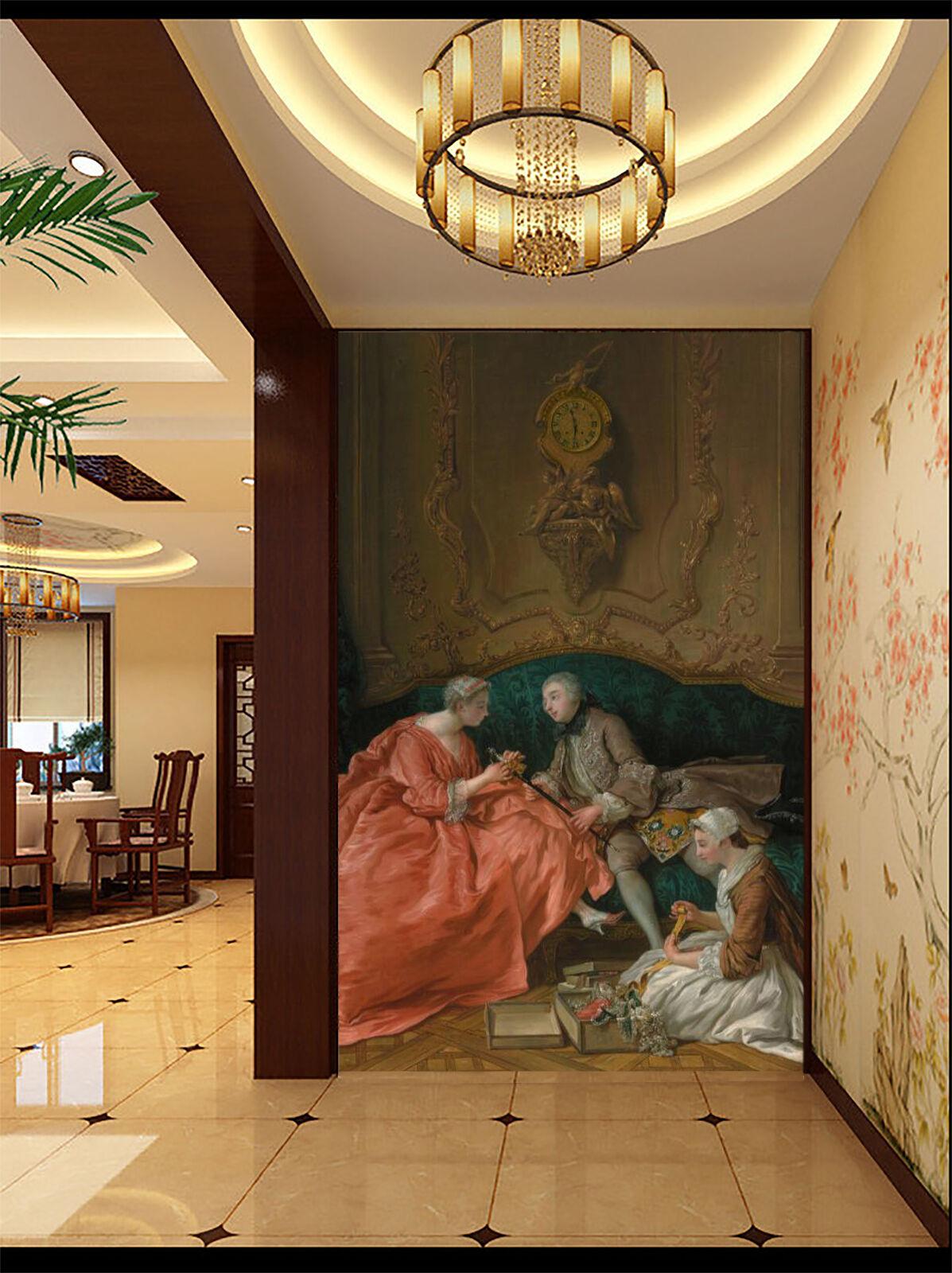 3D Menschen Gemälde Fototapeten Wandbild Fototapete Bild Tapete Familie Familie Familie Kinder | Modisch  | Wirtschaft  |  f5f579
