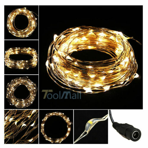 New 3M//5M//10M Copper Wire LED String Fairy Light for Christmas Xmas Party Decor