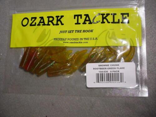 1 pack OZARK TACKLE SHOWME CHUNK Finesse /& Shakey Head Jig Trailers 104-030