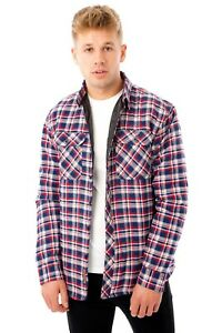 New-Mens-Padded-Quilted-Fleece-Lined-Shirt-Lumberjack-Jacket-Flannel-Warm-Work