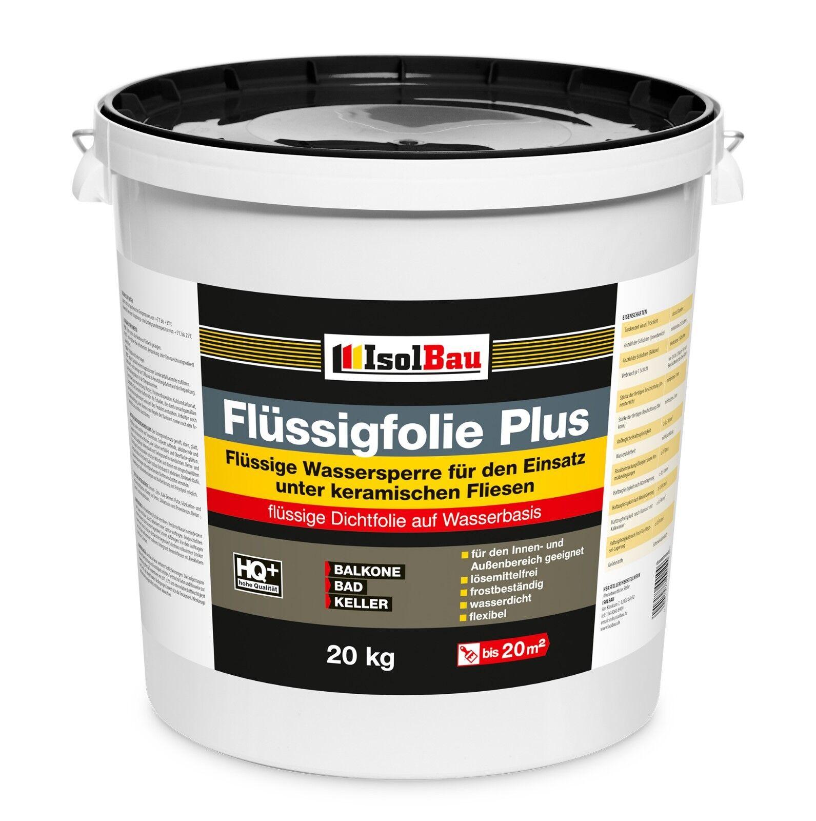 Flüssigfolie PLUS Dichtfolie Profi Abdichtung Innenbereich Außenbereich 20 kg.