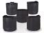 247Garden 5-Pack 7 Gallon Grow Bags//Aeration Fabric Pots w//Handles Black