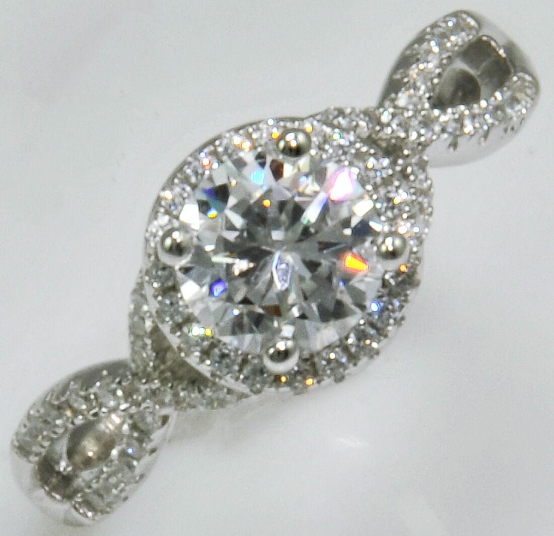 1 ct. Brilliant  Ring Micro Set Top Russian Quality CZ  Moisssanite Simulant S 6
