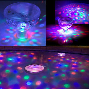 Pool swimming light show underwater led disco spa eau for Plateau piscine flottant