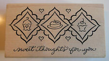 Sweet Thoughts for You Rubber Stamp - Wood Mounted