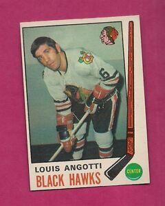 1969-70-OPC-134-HAWKS-LOU-ANGOTTI-EX-MT-CARD-INV-3119