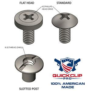 "Kydex Holster Hardware 3//8/"" Flat Head Screws /& Posts 24 Pieces 1//2/"" 1//4/"""