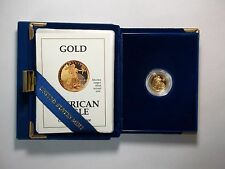 1991-P $5 Gold American Eagle (1/10 Ounce) With Box and COA