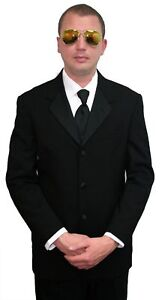 Details about 42S Halloween Costume Tuxedo Jacket Blues Brothers Men in  Black Politician Pimp