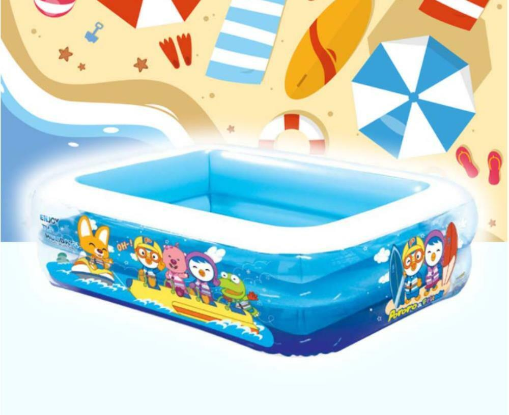Pororo Inflatable Air Cushion Swimming Pool 59in*45.2in*14.9in