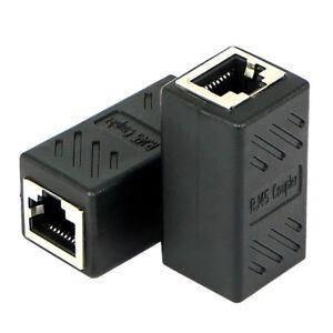 RJ45 LAN Ethernet Network Cable Coupler Female Joiner Cat 5e Cat 6 B$CA