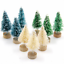 15Pcs-MINI-Sisal-Alberi-di-Natale-Ornamento-in-miniatura-Gelo-Neve-Albero-Natale-Decor miniatura 4