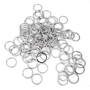 lot 100pcs Stainless Steel Keying Key Chain 32mm Loop Split Key Rings Clasps