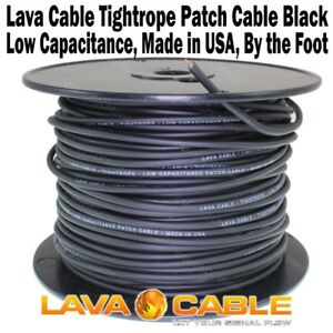 lava tightrope black bulk cable per foot for guitar patch cord tight rope new 685646938346 ebay. Black Bedroom Furniture Sets. Home Design Ideas