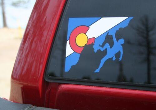 Colorado State Rock Climber Die-Cut Sticker