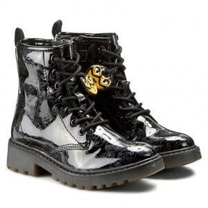 Dettagli su GEOX CASEY J5420K NERO scarpe bambina stivaletti tronchetti polacco tacco pelle
