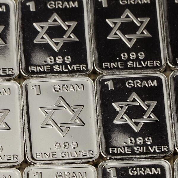 1 YXA004 OZ 5 x 3 g Five-pointed star .999 Fine Silver Bar Round Bullion Xmas