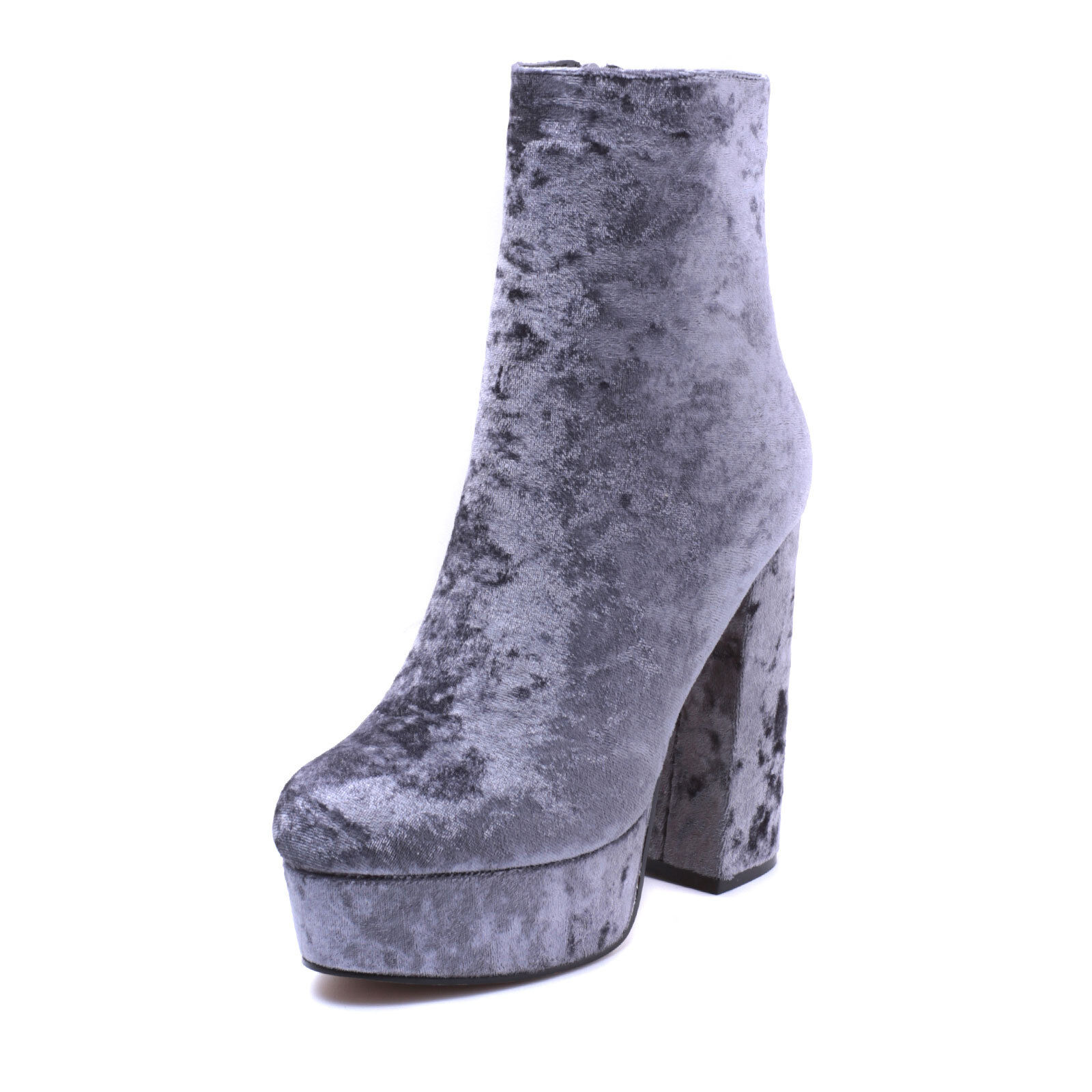 zapatos mujer Stivaletti Ankle botas tronchetto Tacco Alto 13 velluto velluto velluto moda jl-a20  preferente