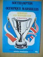 1976 European Cup Winners' Cup 1st RD, 1st Leg- SOUTHAMPTON v OLYMPIQUE MARSEILL