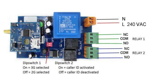 GSM 3 G Gate Opener