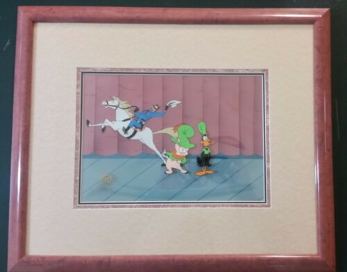 """Bugs Bunny Overtures to Disaster"" Production cel. Framed"