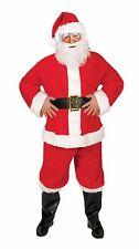 Mens Santa Budget 5PCS Costume Claus Father Christmas Suit Fancy Dress Costume