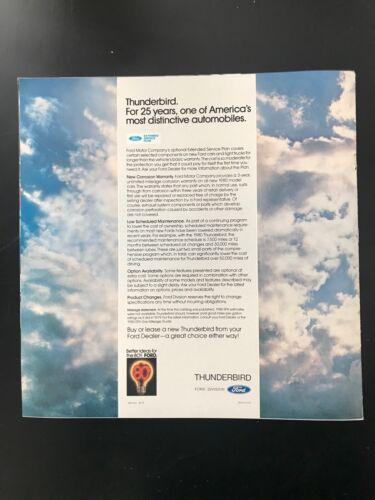 1980 Ford Thunderbird Catalog Car Brochure