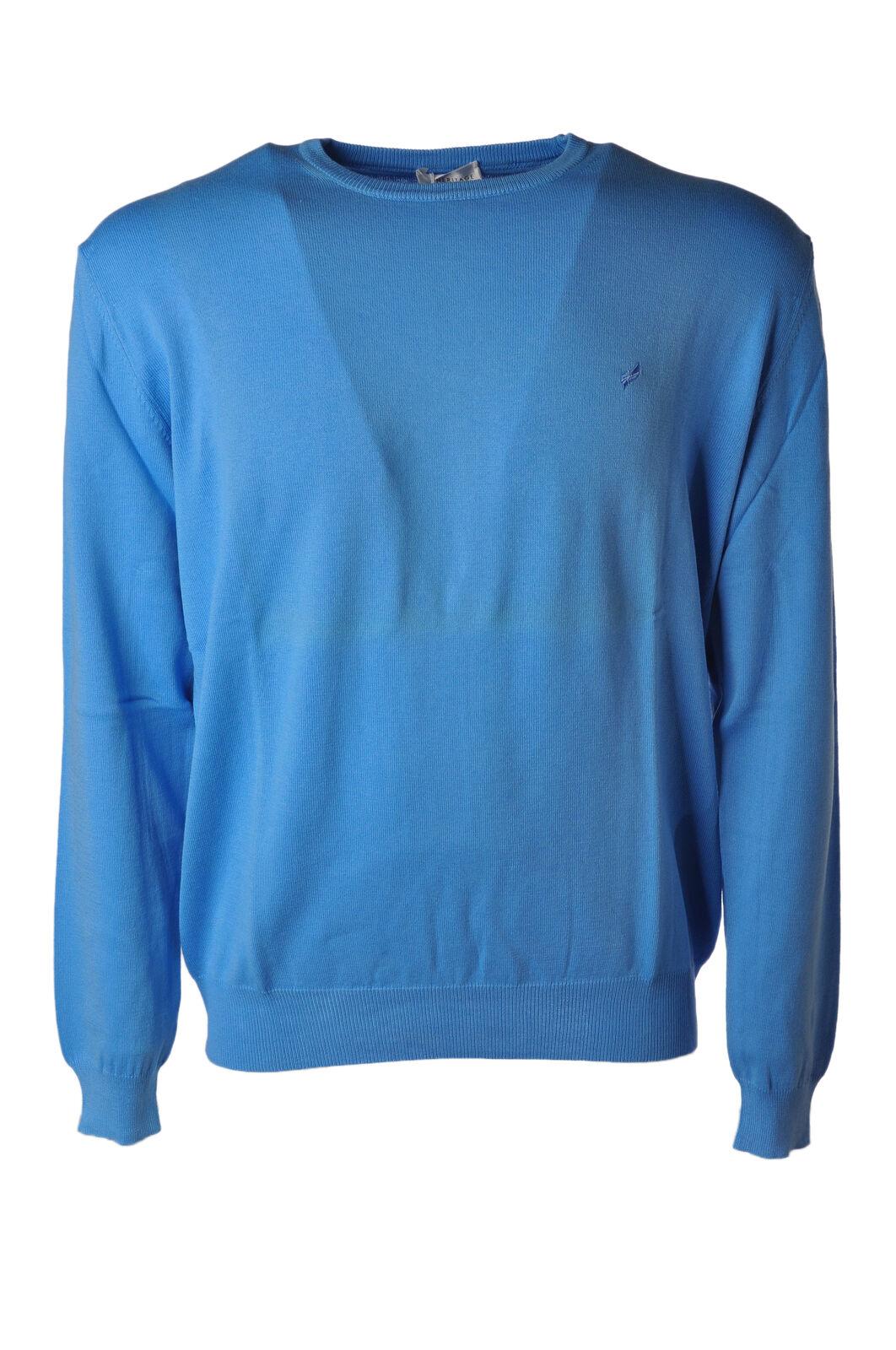 Heritage - Knitwear-Sweaters - Man - bluee - 4646028N184709