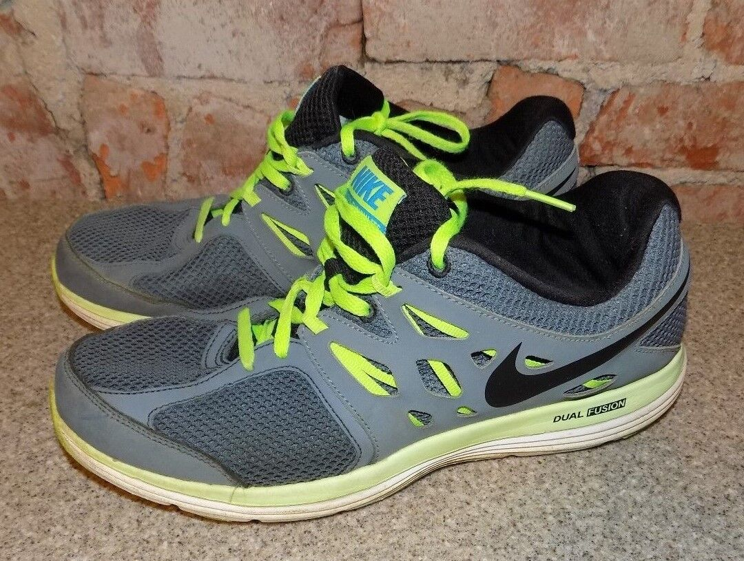 MENS NIKE DUAL FUSIONLITE GRAY TRIMMED GREEN MENS SIZE 9 Cheap and beautiful fashion