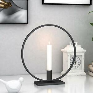 Round Circle Metal Candlestick Home Decoration Craft Desk Table Candle Holder Ebay