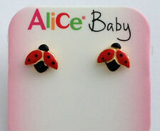 "ORECCHINI "" COCCINELLE "" IN ORO 18KT - 18KT SOLID GOLD LADYBIRDS  EARRINGS"