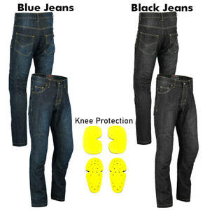 New-Mens-Motorcycle-Jeans-Motorbike-Pants-Reinforced-Denim-Trousers-CE-Armoured