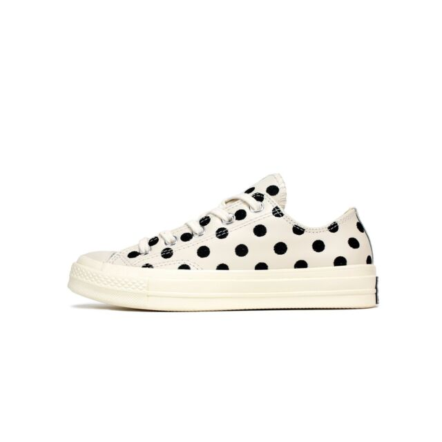 Converse All Star Ox 70S Leather Low Tops Parchment Polka