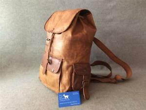 Handmade-Leather-Drawstring-Backpack-BD-LARGE-Rucksack-Festival-Bag-Billy-Goat
