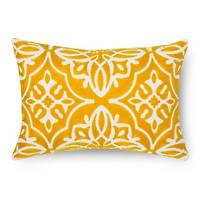 Scroll Embroidered Lumbar Throw Pillow - Threshold&153;
