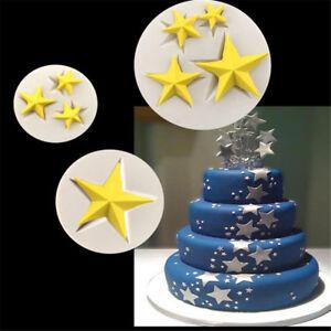 Sterne Form Silikonform Fondantform Kuchen Dekorieren Werkzeuge