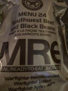 MRE Southwest Beef and Black Beans Menu 24