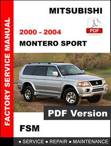 2000 2001 2002 2003 2004 mitsubishi montero sport servicio de rh ebay com Mitsubishi Pajero 2006 Mitsubishi Pajero Sport 2015