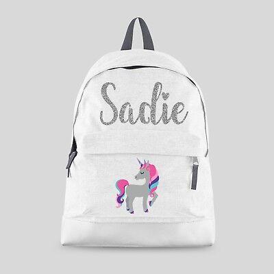 Personalised Kids Backpack Any Name Girls Character Back To School Bag #CBMO1